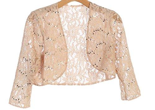 Angel's 3/4 Sleeve Lace Bolero Bridal Jacket Bodice Fully Lined Shrug Jacket NWT (XL, ()