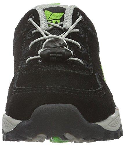 Lico Track - Zapatos de Low Rise Senderismo Unisex Niños Negro (SCHWARZ/LEMON)