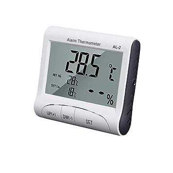 Compra Jannyshop Higrómetro Digital Termómetro Electrónico para Interiores y Exteriores, Termómetro Digital para Higrómetro con Termómetro de Sonda en ...