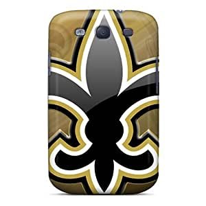 Shock-Absorbing Hard Cell-phone Case For Samsung Galaxy S3 With Unique Design Colorful New Orleans Saints Skin JasonPelletier