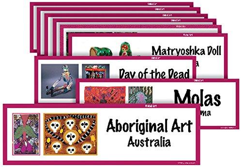 Crystal Productions CP1813 Art Display Cards-Global Folk Art