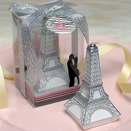 (Osye Charming Eiffel Tower Shape Candles for Wedding Party, Smokeless Candle with PVC Gift Box )