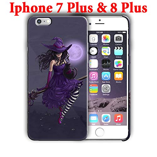 Hard Case Cover with Halloween Witch Desing Compatible with iPhone 7 Plus/iPhone 8 Plus 5.5in (hallo32)