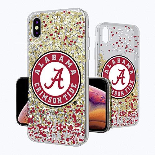 Keyscaper KGLGXM-00AL-FETTI1 Alabama Crimson Tide iPhone Xs Max Glitter Case with UA Confetti Design, -