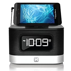 iHome FM Stereo Alarm Clock Radio with USB Charging (IHM50BC) (Certified Refurbished)