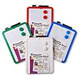 Charles Leonard Dry Erase Boards - Magnetic - 8.5'' x 11'' White Surface - Assorted Frames, 4/Bx (35204)