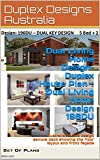 Dual Living Home Design- Duplex House Plan - Dual Living Home Design 196DU: Australian home design sample pack showing the floor layout and front façade (Duplex House Design)