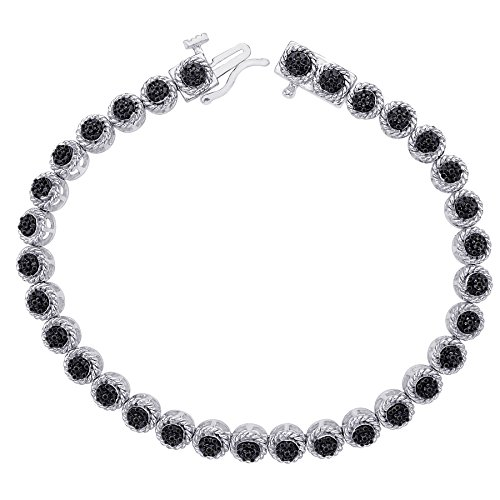 (KATARINA Black Diamond Tennis Bracelet in Sterling Silver (1/5 cttw))
