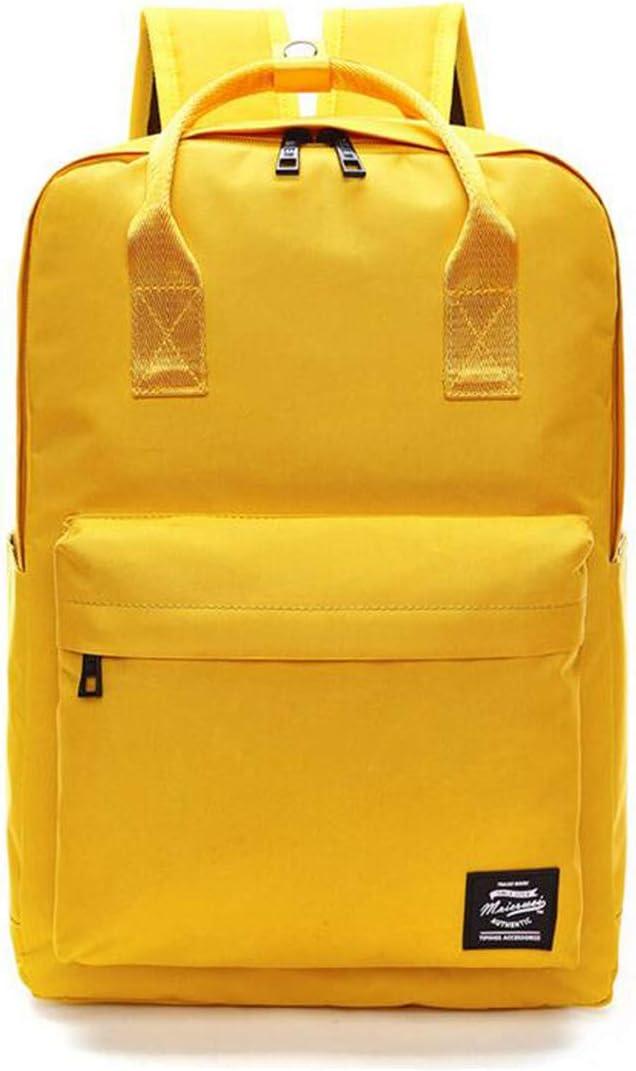 YingTech Lady Boy Girls Backpack Women Preppy School Bags For Teenagers Men Oxford Travel Bags Girls Laptop Backpack Mochila (Yellow)