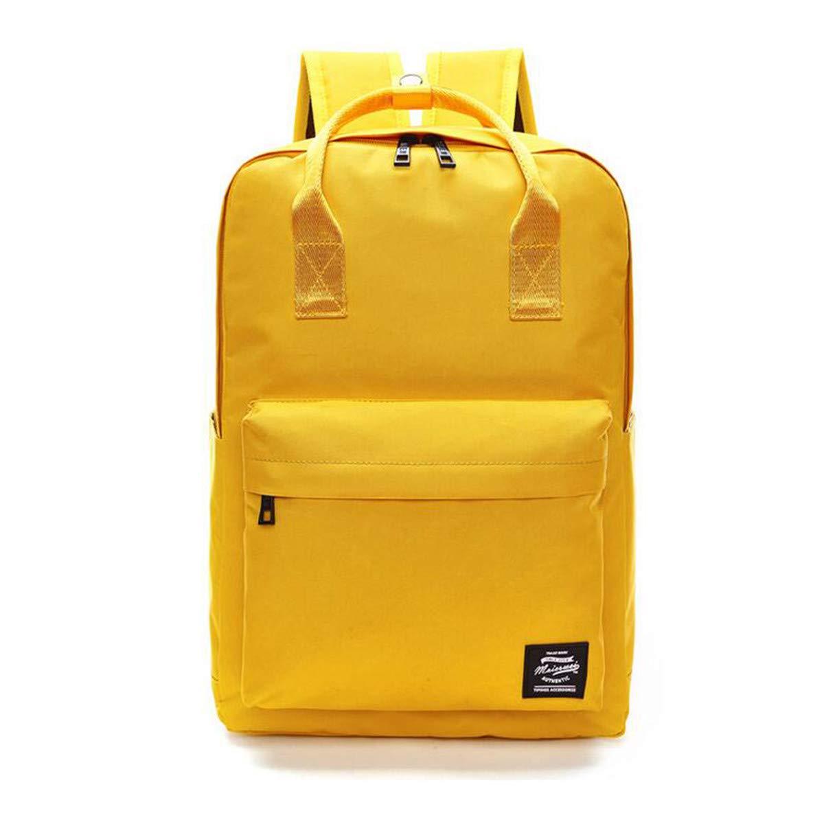 YingTech Lady Boy Girls Backpack Women Preppy School Bags For Teenagers Men Oxford Travel Bags Girls Laptop Backpack Mochila (Yellow) by YingTech