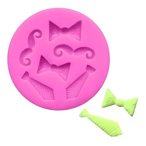 Fiesta - Molde de silicona para decoración de tartas, diseño de mini lazos en 3D
