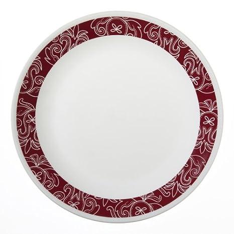 Corelle Livingware 6-Piece Dinner Plate Set Bandhani  sc 1 st  Amazon.com & Amazon.com   Corelle Livingware 6-Piece Dinner Plate Set Bandhani ...