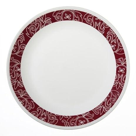 Corelle Livingware 6 Piece Dinner Plate Set, Bandhani