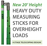 Ships in 1 to 2 Business Days! BA Products BA-MS20 20' Load Height Measuring Stick with Standard & Metric Measurements for Trucks, Trailers, Vehicles