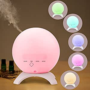 STRONKER 350ml Globe Essential Oil Diffuser Portable Aromatherapy 15 Color LED Lights Ultrasonic Aroma Diffuser Humidifier Whisper Quiet Cool Mist Air Purifier up to 10 Hours Waterless Auto Shut-off