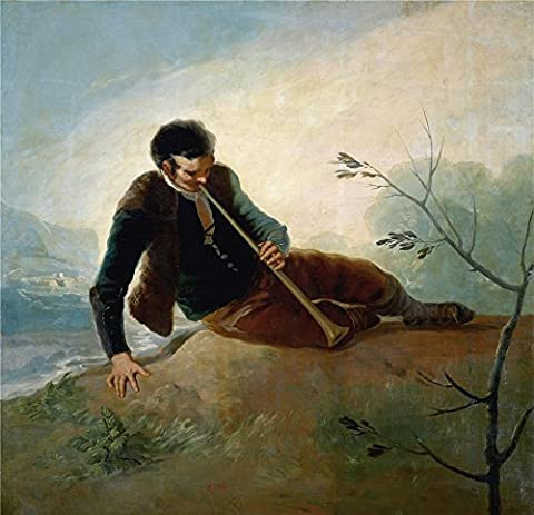 Oil Painting 'Goya Y Lucientes Francisco De Shepherd Playing A Dulzaina 1786 87' 12 x 12 inch / 30 x 32 cm , on High Definition HD canvas prints is for Gifts And Bar, Foyer And Garage Decoration, - Blank Filler Module