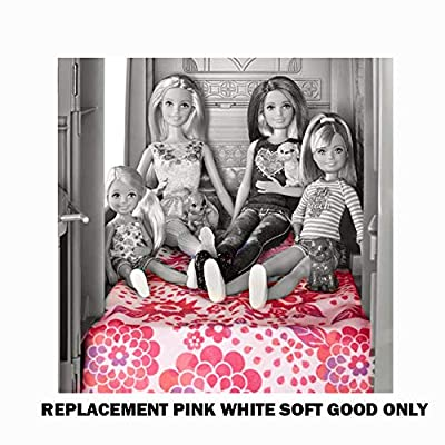 Barbie Replacement Parts Camper Doll Pop Up Camper Playset CJT42 | Includes Pink and White Floral Blanket, Striped Hammock and Blue Pillow: Toys & Games