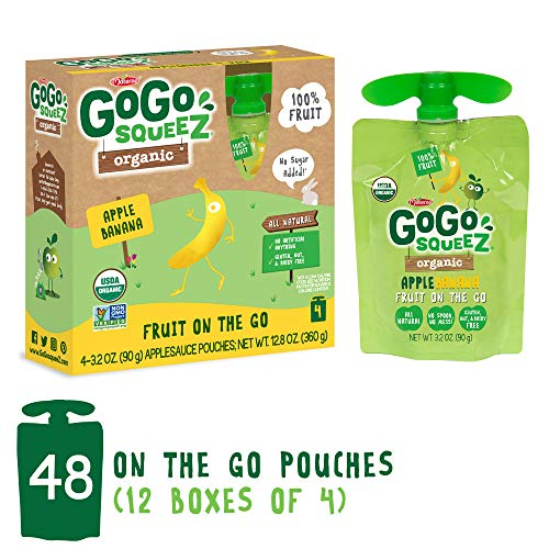 GoGo SqueeZ Organic Applesauce on the Go, Apple