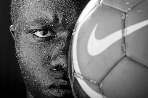 Tough Like a Nike Ball Canvas Print / Canvas Art - Artist Val Black Russian Tourchin