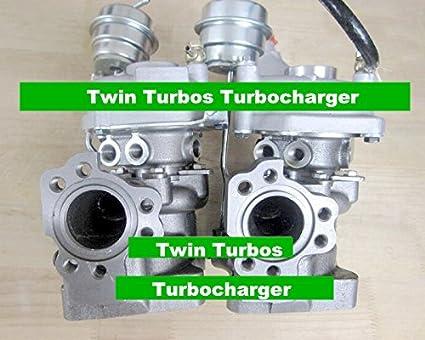 GOWE 2 unidades Turbo turbocompresor para K03 53039880016 53039880017 078145701R Twin unidades Turbo turbocompresor para Audi