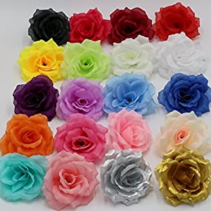 Silk Flowers Wholesale 100 Artificial Silk Rose Heads Bulk Flowers 10cm for Flower Wall Kissing Balls Wedding Supplies 1