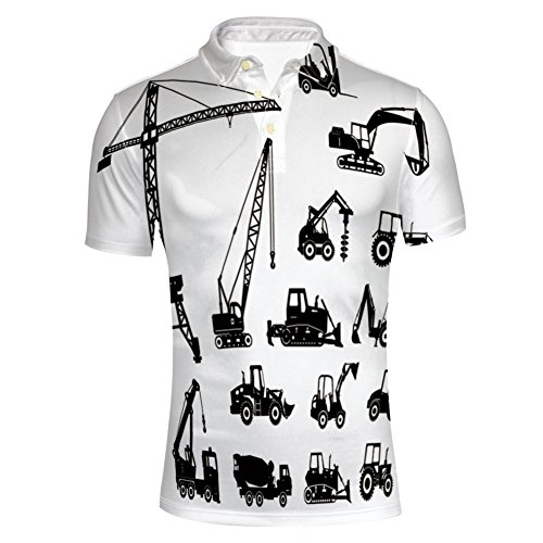 iPrint Fashion Shirts Concrete Mixer Machines Industrial Set Trucks for Mens