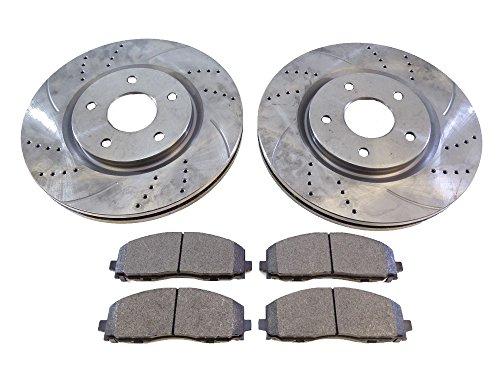 2x Brake Disc Rotors Front 53068A & Brake Pads D1589 CBK: