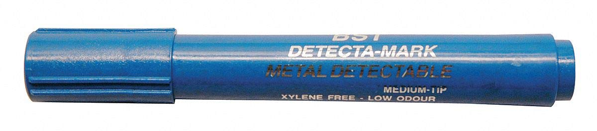 Detectapro Metal Detectable Dry Erase Marker with Blue Ink PK10 - DEPENBL by Detectapro (Image #1)