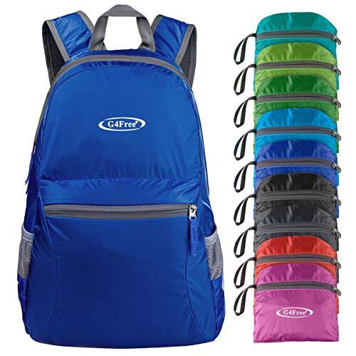 G4Free Ultra Lightweight Packable Backpack Travel Hiking Daypack Foldable (Dark Blue)