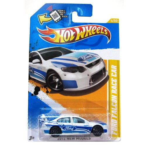 Hot Wheels New 2012 Ford Falcon Race Car White (Ford Falcon Hot Wheels)