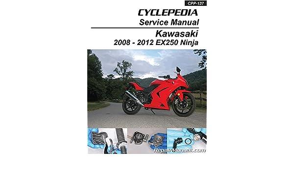 Cpp 137 P 2008 2012 Kawasaki Ninja 250r Printed Service Manual