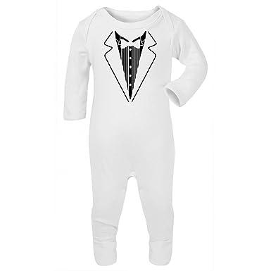 detailing where to buy price reduced Tutina neonato, maglietta smoking, con farfallino, carina, per baby shower