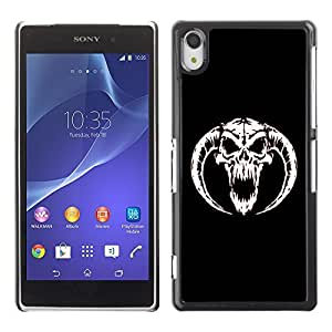 GagaDesign Phone Accessories: Hard Case Cover for Sony Xperia Z2 - Horned Devil Skull