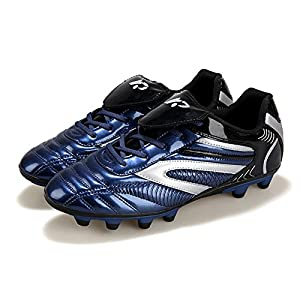 YING LAN Men's Boys Turf Cleats Soccer Athletic Football Outdoor/Indoor Sports Shoes AG Dark Blue