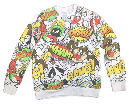 Looney Tunes Bugs Bunny Tasmanian Devil Marvin The Martian Men's Sweatshirt (X-Large -