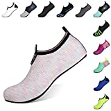 Heeta Barefoot Water Sports Shoes for Women Men Quick Dry Aqua Socks for Beach Pool Swim Yoga Mix Colour M