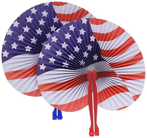 Stars & Stripes Folding Fans - Hand Fan Patriotic
