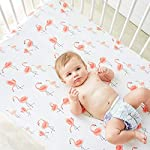 Little-Jump-Flamingo-Crib-Sheet-Jersey-Cotton-Crib-Mattress-for-Toddler-Bed-Baby-Sheets-for-Crib-Toddler-Bed-Sheets-Girl-Crib-Sets-for-Girls-Flamingo