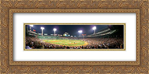 Fenway Park 2x Matted 24x14 Gold Ornate Framed Art Print from the Stadium Series
