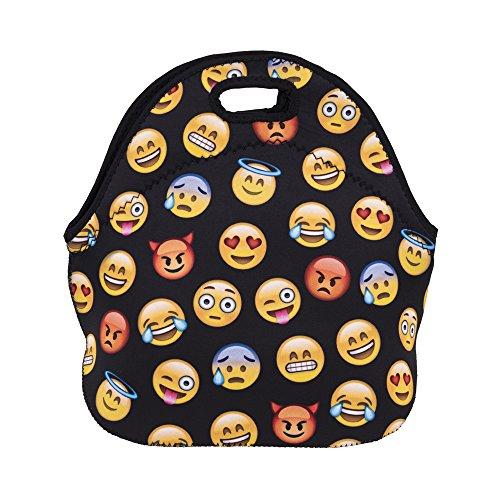 Neoprene Insulated Emoji Lunch Bag