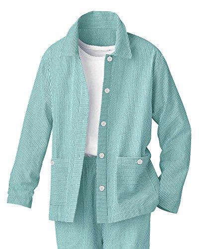 National Stripe Seersucker Jacket, Green, (Seersucker Stripe Jacket)