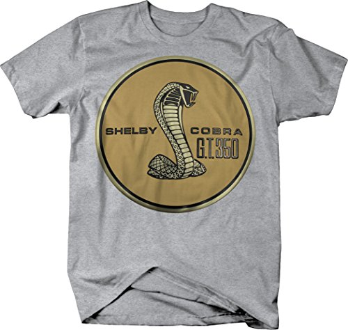 - OS Gear Shelby Cobra GT350 Mustang Snake Gold Emblem Tshirt - Large