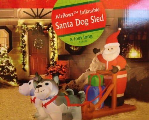 Amazon.com: airblown perro Husky trineo de Papá Noel ...