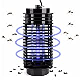 Bug Zapper Outdoor,Plug in Insect Zapper,Electronics Mosquito Killer Trap Moth Fly Wasp Led Night Lamp Bug Insect Light Black Killing Pest Zapper US Plug Christmas Ornament 2019