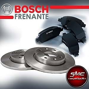 SMC - Discos y pastillas de freno delanteros Bosch 0986478639 + 0986494075: Amazon.es: Coche y moto