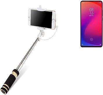 K-S-Trade® Selfie Stick Palillo para Xiaomi Redmi K20 Pro, Negro ...