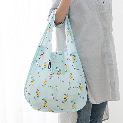 KANG--Reusable Storage Foldable Handbag Shopping Tote Bag Oxford Cloth Eco Bags Showy (Shopping La Lake Charles)
