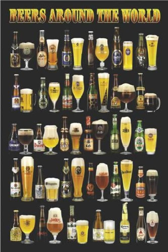 Beers Around Bottles Glasses Poster product image