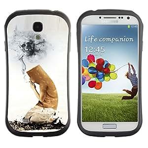 Pulsar iFace Series Tpu silicona Carcasa Funda Case para SAMSUNG Galaxy S4 IV / i9500 / i9515 / i9505G / SGH-i337 , Funny Cigarette Butt Death