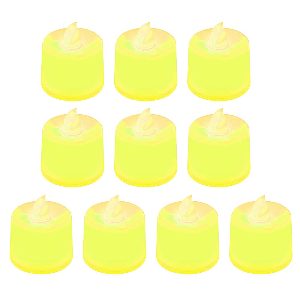 bodas velas sin llama funciona con pilas aniversarios 4.2cm x 3.7cm azul Velas el/éctricas de 10 piezas compatible con cumplea/ños